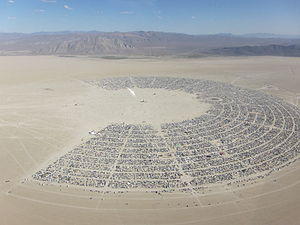 Burning Man aerial, 2011