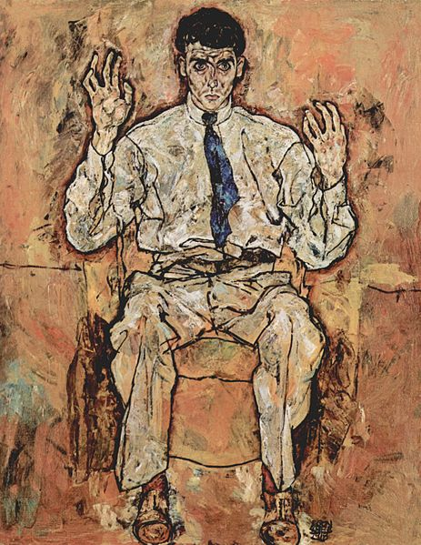 Egon Schiele Portrait des Albert Paris Gütersloh