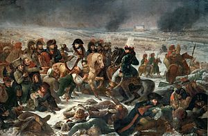 Napoleon during the battle of Eylau