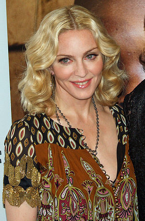 English: Madonna at the premiere of I Am Becau...