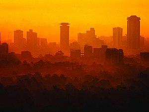 English: Nairobi skyline.