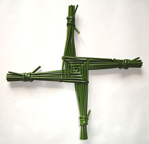 Saint Brigid's cross, made from rushes from Co...