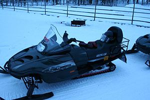 English: A Snow Mobile in Lapland