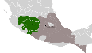 The location of the Tarascan state in relation...