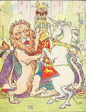 English: Lion and Unicorn from The Nursery Rhy...