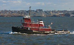 A Tug Boat in New York Harbor