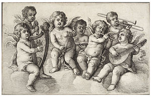 Wenceslas Hollar - Concert of cherubs in the c...