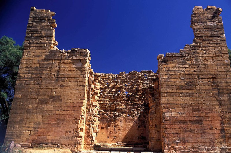 The temple in Yeha, Tigray region, is dated back ca. 8th century BC and believed to be one of the oldest structures in Ethiopia.