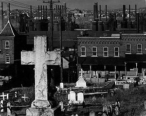 Graveyard and steel mill. Bethlehem, Pennsylva...