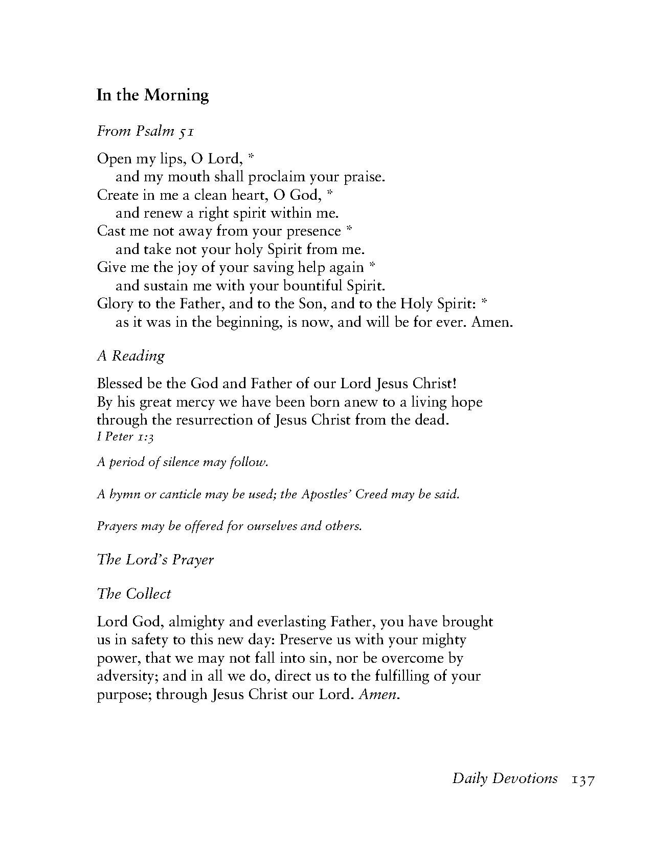 Page Book Of Common Prayer Tec 137