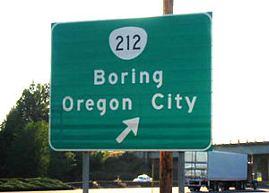 This is a picture of the Boring/Oregon City si...