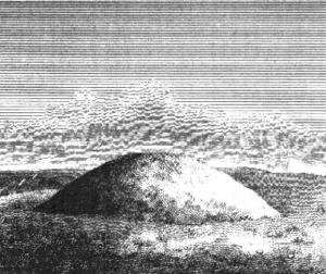 Bowl barrow from an engraving of barrow types,...