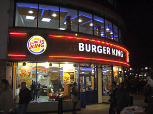 A Burger King restaurant in Leicester Square, ...