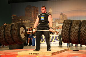 Derek pulled 911.5 lbs during the Hummer Tire ...