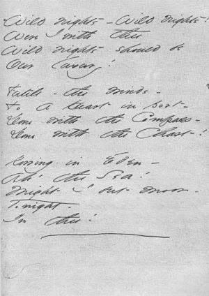 Dickinson's handwritten manuscript of her poem...