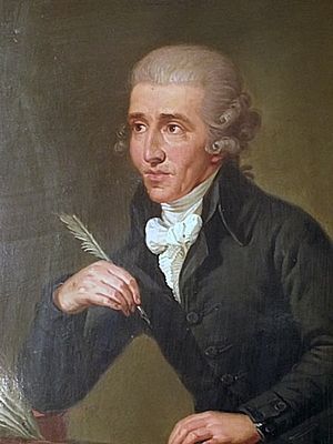 Portrait of Joseph Haydn - younger by Ludwig G...