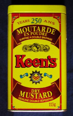 Keen's Dry Mustard 1992 113g tin front