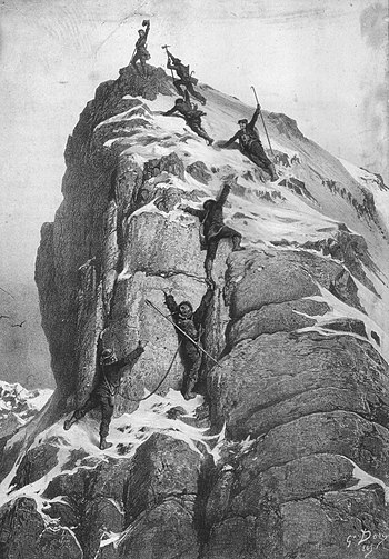 The first ascent of the Matterhorn by Gustave Doré