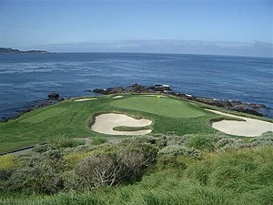 The 7th hole at Pebble Beach Golf Links, Monte...
