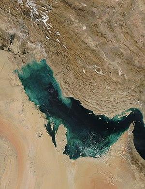 Vue satellite du Golfe Persique
