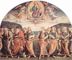Pietro Perugino fresco at the Collegio del Cam...