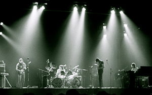 "Le groupe Pink Floyd interprétant ""Dark S..."