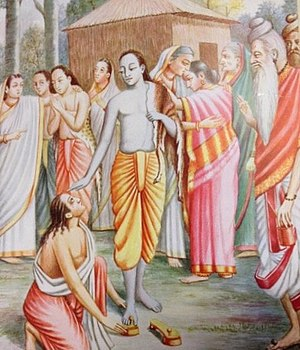 Bharata Asks for Rama's Footwear