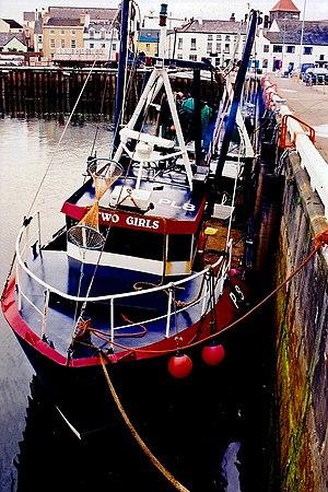 English: Ramsey - West Quay - Fishing boat Two...