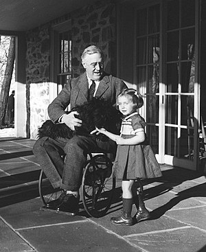 Franklin Delano Roosevelt with Ruthie Bie