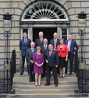 The cabinet of the 4th Scottish parliament out...