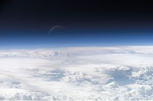 Image of the top layers of the earth's atmosph...