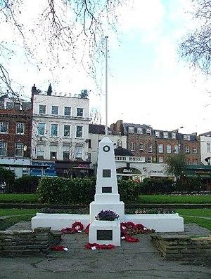 English: War Memorial - Islington Green. The b...
