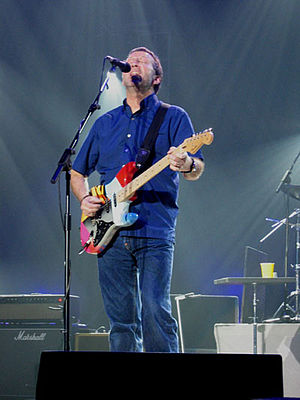 Eric Clapton performing live at the TUI Arena ...