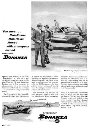 File:Advertisement for Beechcraft Model 35 Bonanza, May