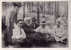 Rabbi Boruch Ber Leibowitz with his students