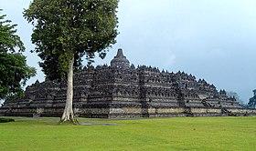 Vue du site de Borobudur en 2007