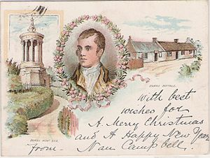 English: Vintage postcard dated 1899 showning ...