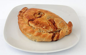 A Cornish Pasty made by Warrens