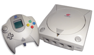 Image of my dreamcast console and controller, ...