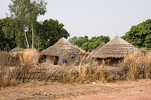 Rural village in the back-country of The Gambia
