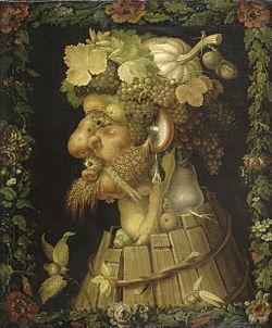 Giuseppe Arcimboldo. Otoño. 1573. óleo sobre lienzo. Louvre, Par�s