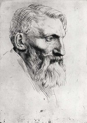 Auguste Rodin (1840-1917) drawn by Alphonse Le...