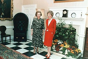 US First Lady Nancy Reagan with UK Prime Minis...
