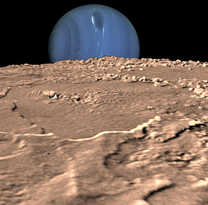 Neptune on Triton's Horizon 2006
