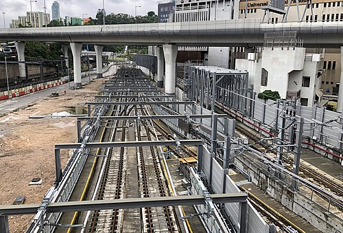 New north siding tracks at Hung Hom Station in October 2018