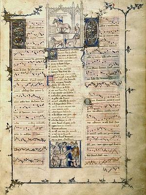 Página do Roman de Fauvel