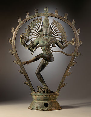 English: Sculpture of Shiva in copper alloy fr...