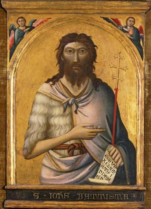 'St. John the Baptist', painting by Jacopo del Casentino, El Paso Museum of Art