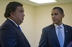 Bill Richardson and Barack Obama