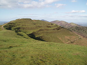 English: The central mound of the hillfort at ...